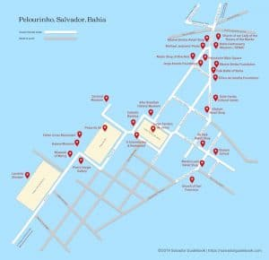 Pelourinho walking tour map