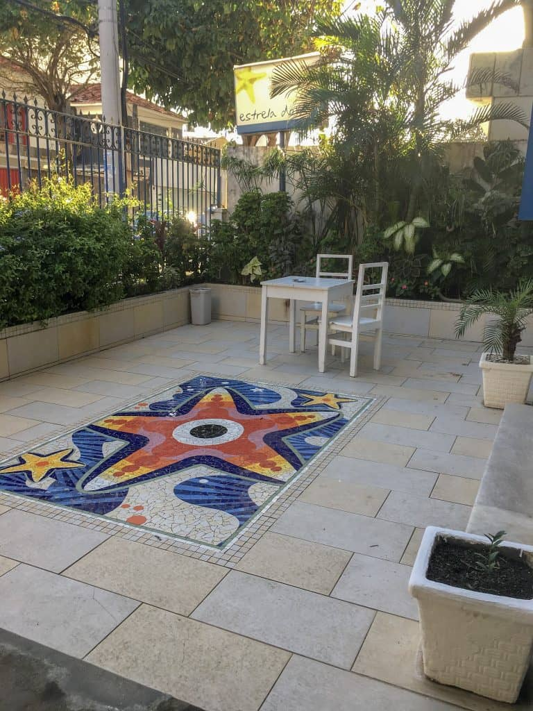 Front patio at Estrela do Mar