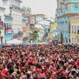 Pelourinho full of people for the Festival of Santa Barbara